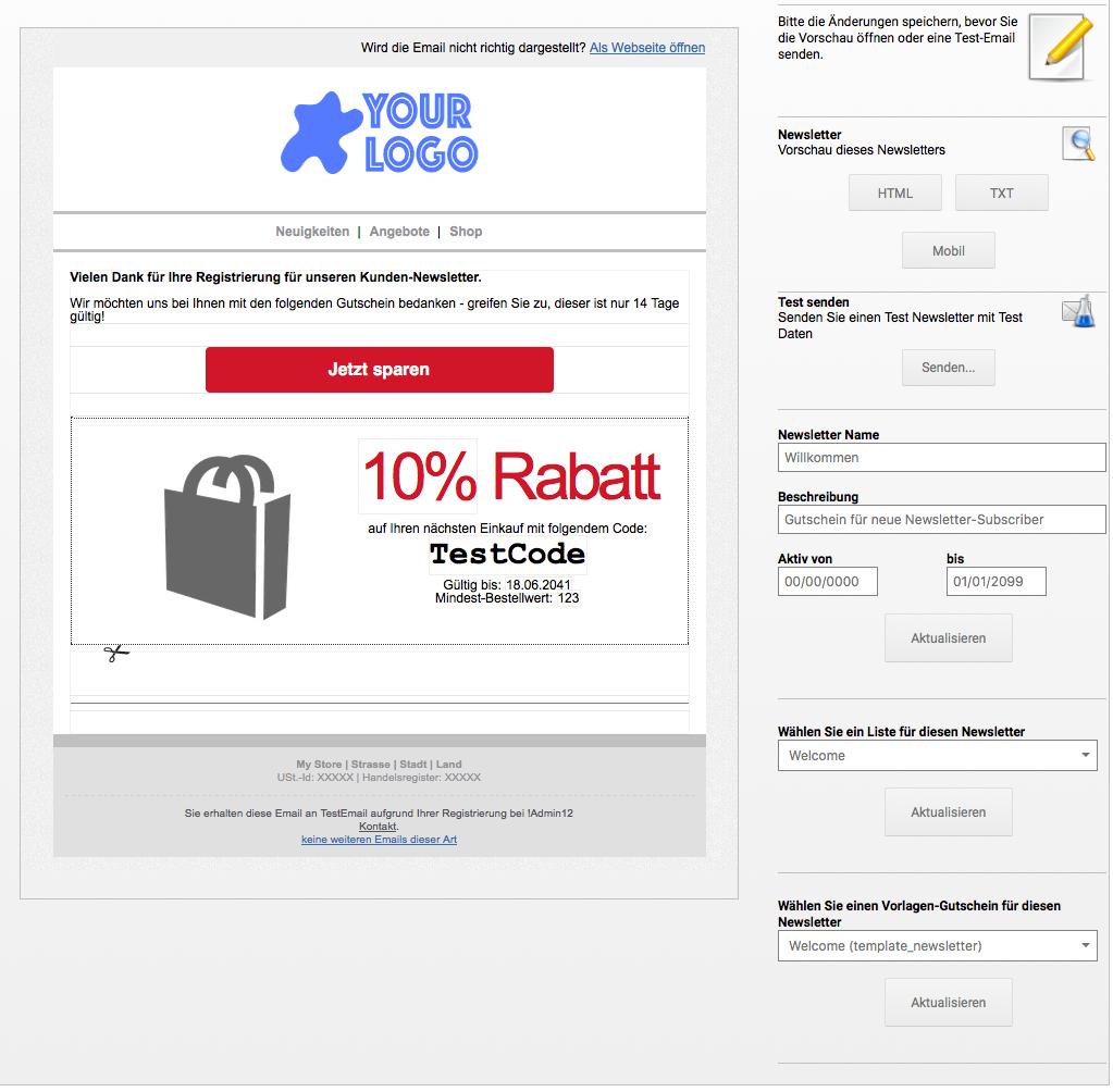 Gutschein Rezepte   MailBeez Ecommerce Email Marketing